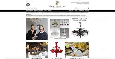 Neuaufbau: LIGHTCOUTURE  - Serving the Brilliant (Webshop)